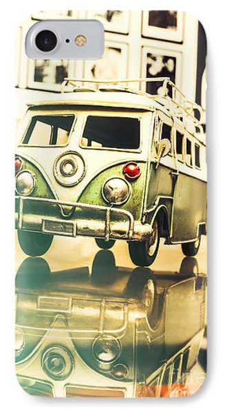Retro 60s Toy Van IPhone Case by Jorgo Photography - Wall Art Gallery