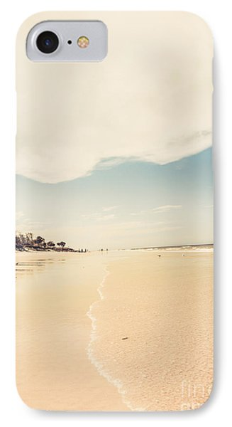 Retro Beach Landscape Taken Bribie Island  IPhone Case