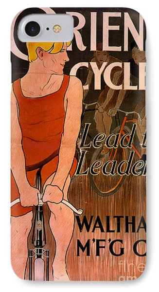 Retro Bicycle Ad 1890 IPhone Case by Padre Art