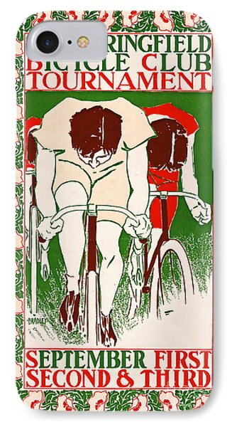 Retro Bicycle Poster 1895 IPhone Case by Padre Art