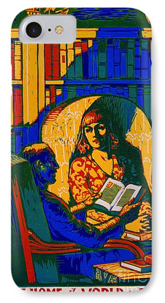 Retro Books Poster 1920 IPhone Case by Padre Art