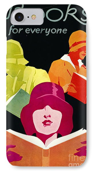 IPhone Case featuring the photograph Retro Books Poster 1929 by Padre Art