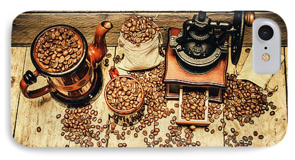 Retro Coffee Bean Mill IPhone Case