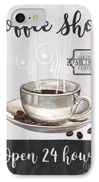 Retro Coffee Shop 1 IPhone Case by Debbie DeWitt