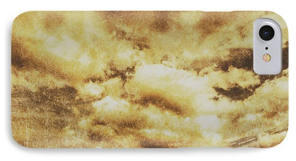 Retro Grunge Cloudy Sky Background IPhone Case by Jorgo Photography - Wall Art Gallery