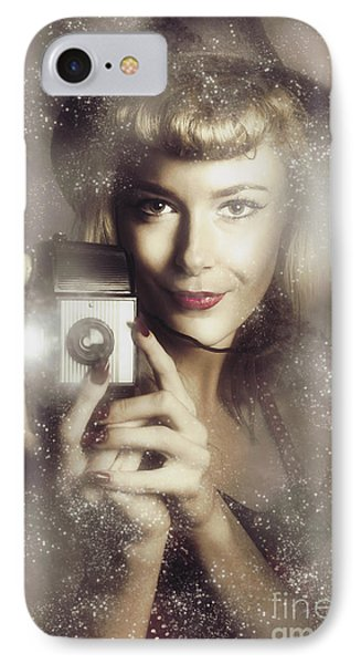 Retro Hollywood Fashion Photographer IPhone Case by Jorgo Photography - Wall Art Gallery