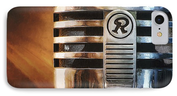 Retro Microphone IPhone Case by Scott Norris
