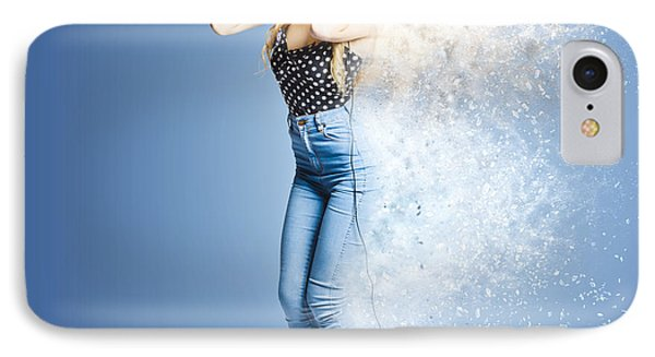 Retro Music Explosion IPhone Case by Jorgo Photography - Wall Art Gallery