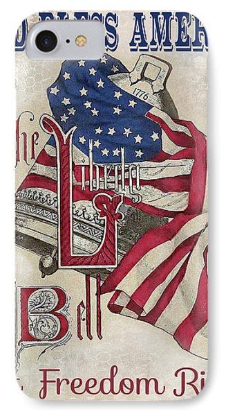 Retro Patriotic-a IPhone Case
