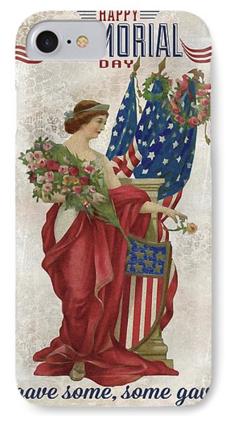 IPhone Case featuring the digital art Retro Patriotic-b by Jean Plout