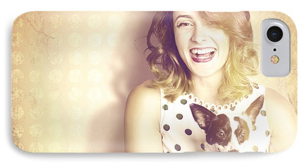 Retro Pets And People IPhone Case by Jorgo Photography - Wall Art Gallery