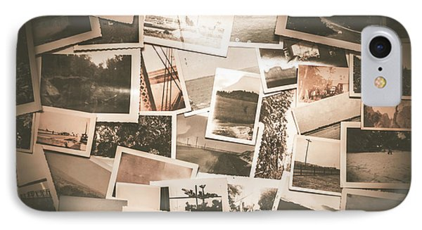 Retro Photo Album Background IPhone Case by Jorgo Photography - Wall Art Gallery