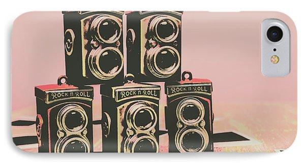 Retro Photo Camera Pop Art  IPhone Case by Jorgo Photography - Wall Art Gallery