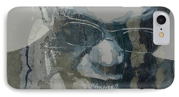 Retro / Ray Charles  IPhone Case by Paul Lovering