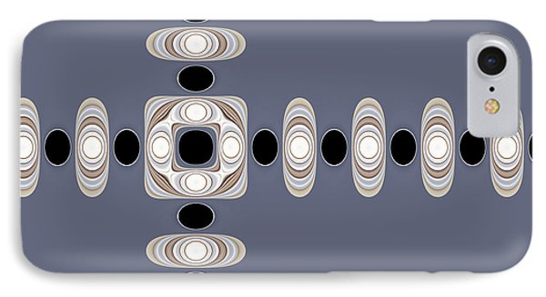 IPhone Case featuring the digital art Retro Shapes 1 by Fran Riley