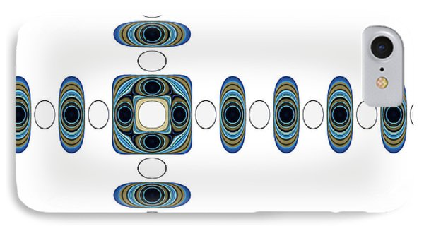 IPhone Case featuring the digital art Retro Shapes 2 by Fran Riley
