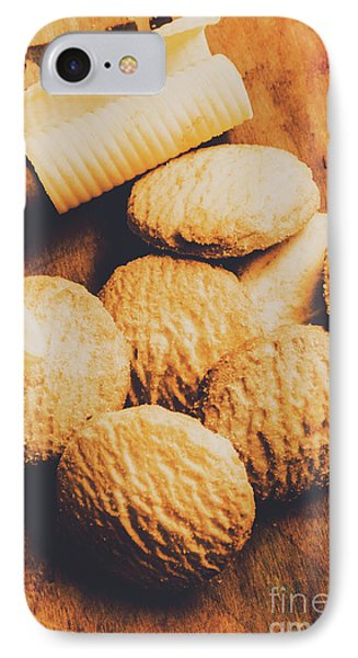 Retro Shortbread Biscuits In Old Kitchen IPhone Case by Jorgo Photography - Wall Art Gallery