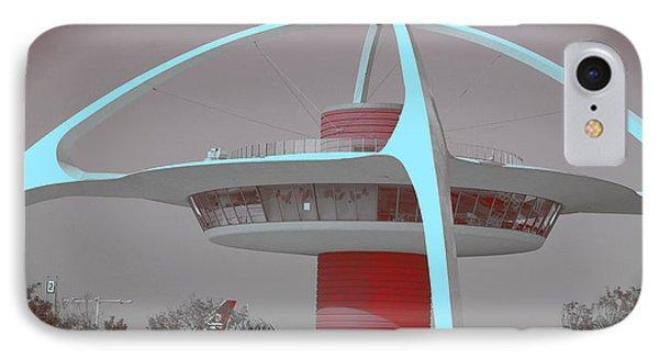 Retro Spaceship Aka La Airport IPhone Case by Matthew Bamberg