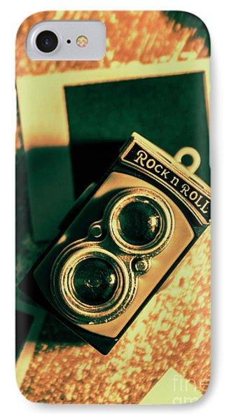 Retro Toy Camera On Photo Background IPhone Case