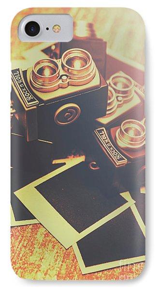 Retro Twin Lens Reflex Cameras IPhone Case by Jorgo Photography - Wall Art Gallery