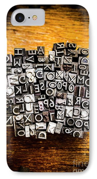 Retro Typesetting In Print IPhone Case by Jorgo Photography - Wall Art Gallery