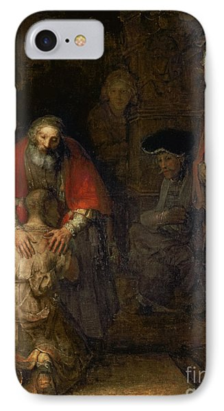 Return Of The Prodigal Son IPhone Case by Rembrandt Harmenszoon van Rijn
