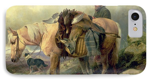 Returning From The Hill IPhone Case by Richard Ansdell