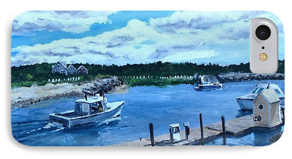 Returning To Sesuit Harbor IPhone Case by Jack Skinner