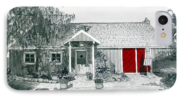 Retzlaff Winery With Red Door No. 2 IPhone Case