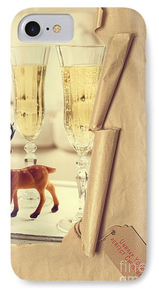 Revealing Christmas Champagne IPhone Case