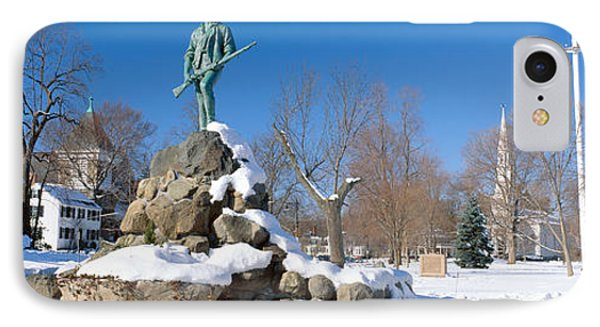 Revolutionary War Memorial In Winter IPhone Case by Panoramic Images