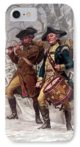 Revolutionary War Soldiers Marching Phone Case by War Is Hell Store