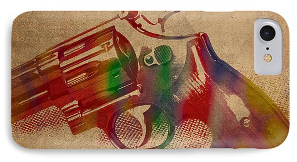 Revolver Watercolor Art Number 1 IPhone Case