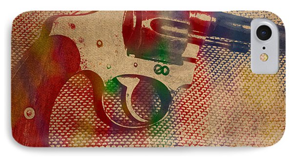 Revolver Watercolor Art Number 2 IPhone Case