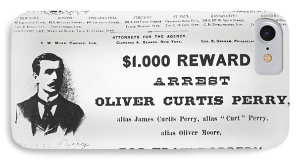 Reward Poster For The Arrest Of Oliver Perry Issued  Phone Case by American School