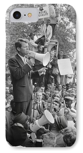 Rfk Speaking At Core Rally IPhone Case by War Is Hell Store