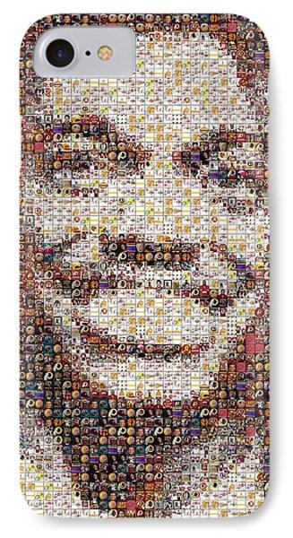 Rg3 Redskins History Mosaic Phone Case by Paul Van Scott