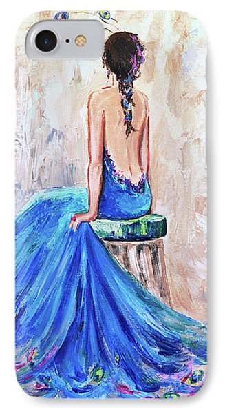 IPhone Case featuring the painting Rhapsody In Blue by Jennifer Beaudet