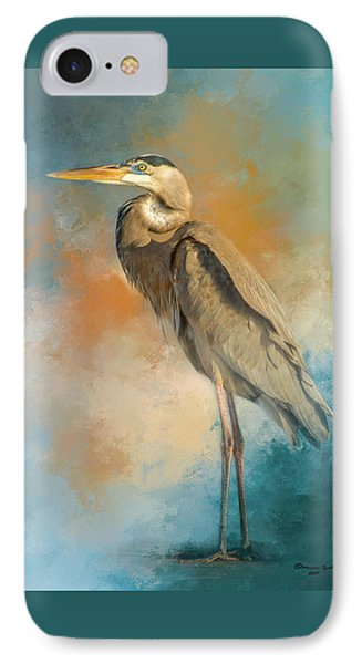 Heron iPhone 7 Case - Rhapsody In Blue by Marvin Spates