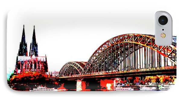 Rhine Cologne Abstract 004 IPhone Case by Ralph Klein