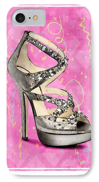 Rhinestone Party Shoe IPhone Case by Jann Paxton