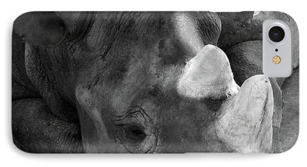 Rhino Nap IPhone Case by Alycia Christine