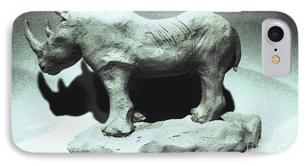Rhino Sculpture IPhone Case