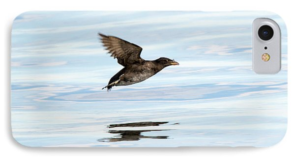 Rhinoceros Auklet Reflection IPhone Case by Mike Dawson
