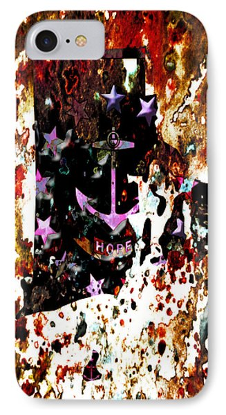 Rhode Island Paint Splatter IPhone Case by Brian Reaves
