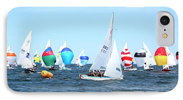 IPhone Case featuring the photograph Rhodes Nationals Sailing Race Dennis Cape Cod by Charles Harden