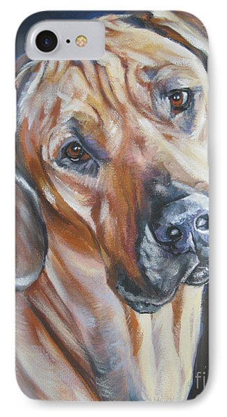 Rhodesian Ridgeback Phone Case by Lee Ann Shepard