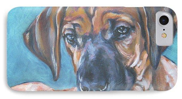 Rhodesian Ridgeback Puppy IPhone Case by Lee Ann Shepard