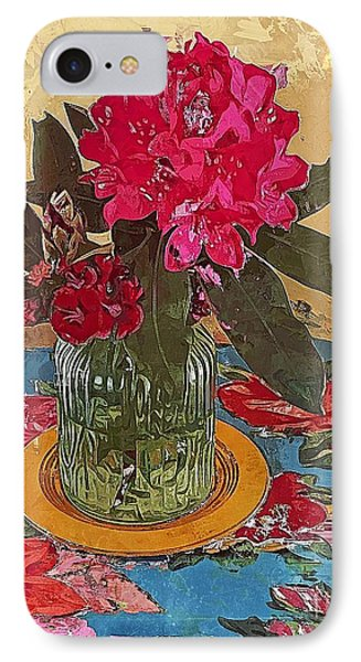 IPhone Case featuring the digital art Rhododendron by Alexis Rotella