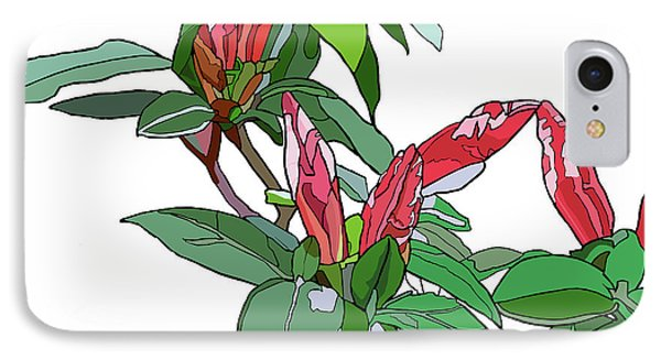 Rhododendron Buds IPhone Case by Jamie Downs